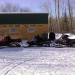 Sleds at Warming Shack